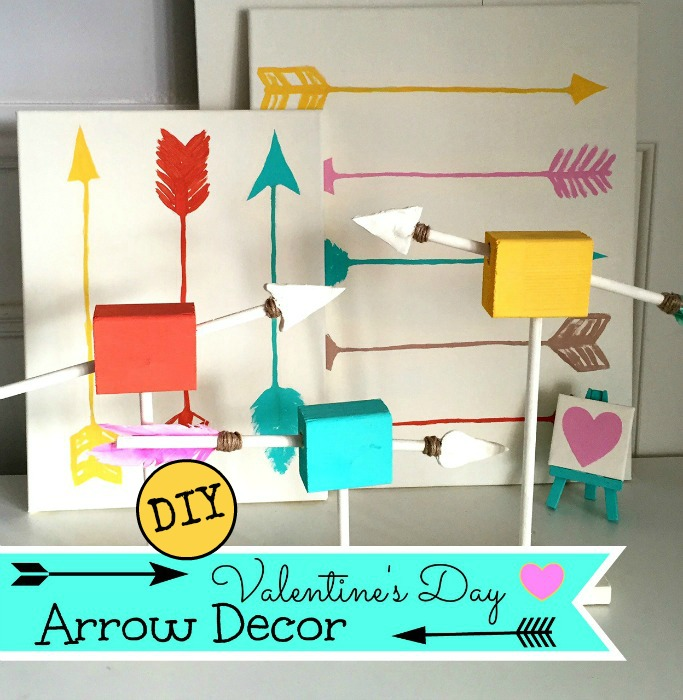 DIY Arrow Decor / Valentine's Day / Valentine's Day Decor / DIY / easy Dollar Store craft / apurdylittlehouse.com