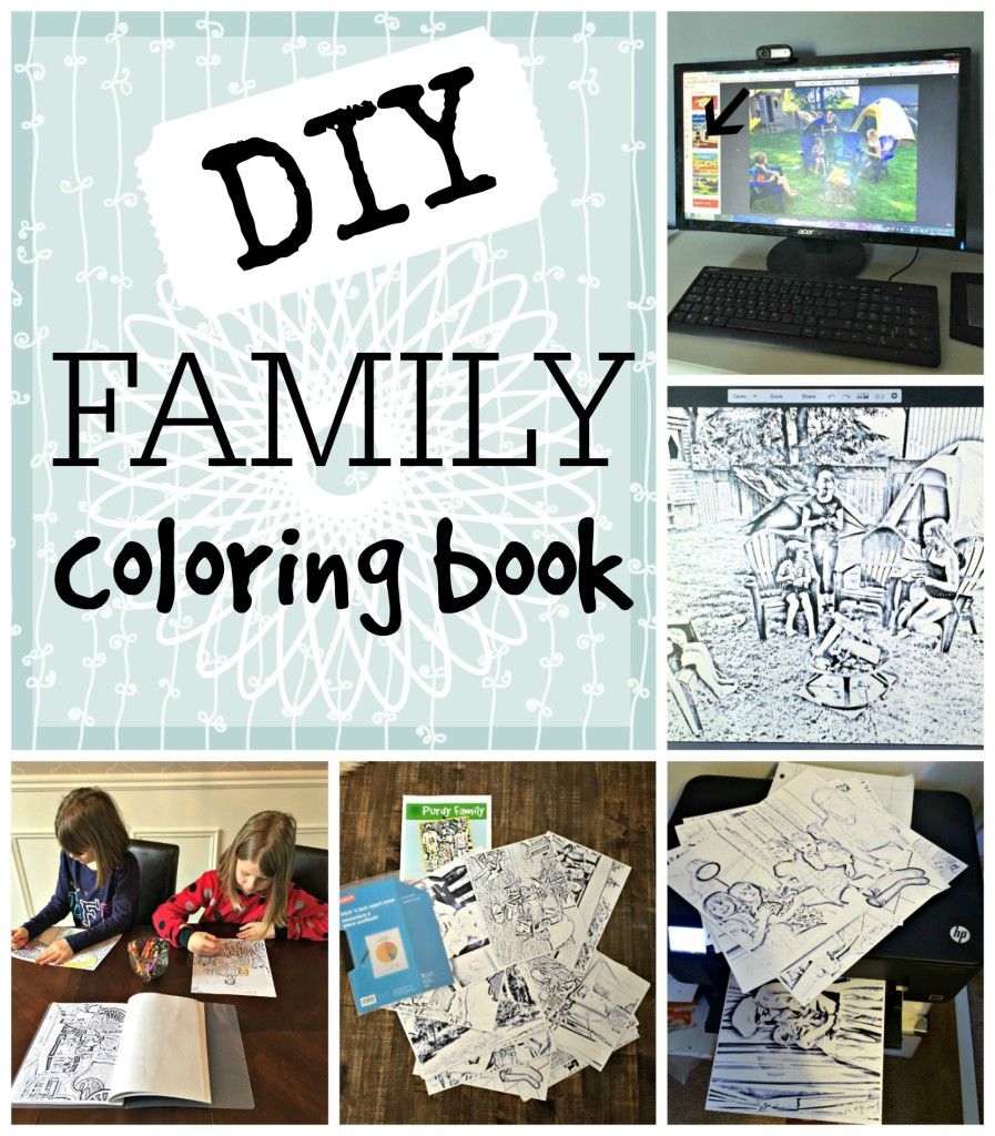 Family Colouring Book How to create a fun and unique colouring book using family photos Tutorial apurdylittlehouse.com