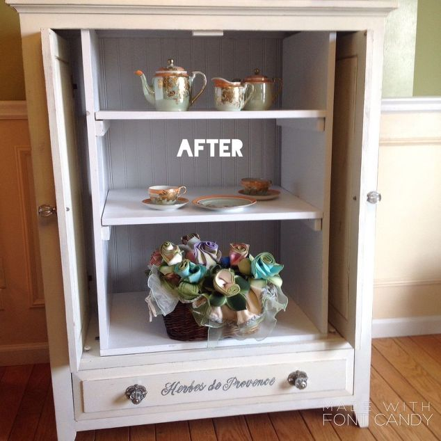 Furniture Upcycle tv-cabinet-to-china-cabinet-painted-furniture-repurposing-upcycling #30dayflip