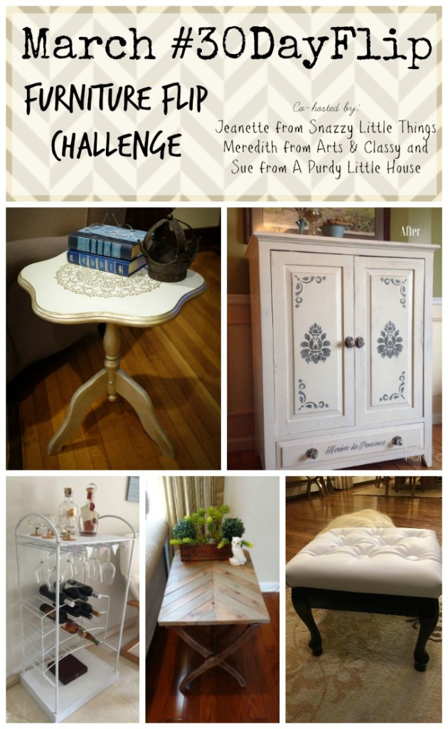 March #30dayflip Furniture Flip Challenge How to upcycle furniture