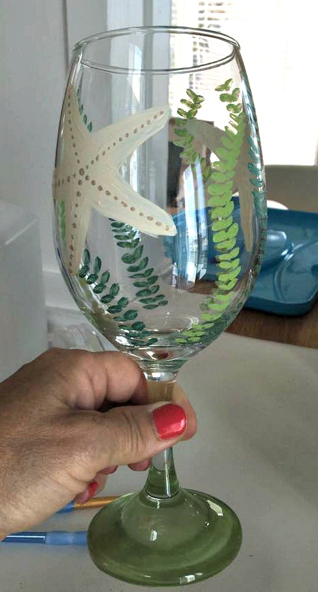 Dollar Store Flip for the #30dayflip Challenge. These wine glasses were transformed using coastal accents for cute DIY gifts and decor